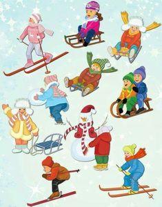 Winter Kids, Winter Sports, Olympic Crafts, Winter Activities For Kids, Christmas Applique, Winter Trees, In Kindergarten, Preschool Activities, Art For Kids