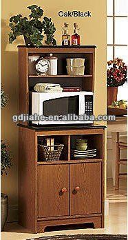 Charmant MDF Kitchen Microwave Oven Stand With Hutch $50~$100