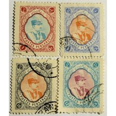 Iran, Reza Shah (1925-1941) 1931, Set of 4 stamps used VF. Reza Shah (1878 – 1944), was the Shah of Iran (Persia) from 15 December 1925 until he was forced to abdicate by the Anglo-Soviet invasion of Iran on 16 September 1941. In 1925 four years after a British-assisted coup in 1921, Rezā Shāh officially deposed Ahmad Shah Qajar, the last Shah of the Qajar dynasty, and founded the Pahlavi dynasty. He established a constitutional monarchy that lasted until overthrown in 1979 during the...