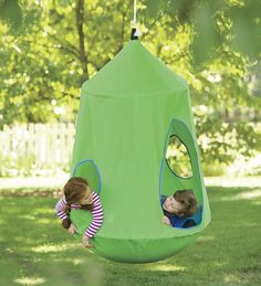 This would be really cool for any of the younger set, on the front porch or hanging from the willow tree!!!HugglePod&