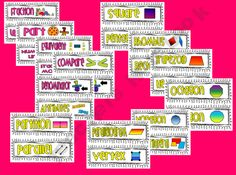 Third Grade Math Common Core Vocabulary Cards