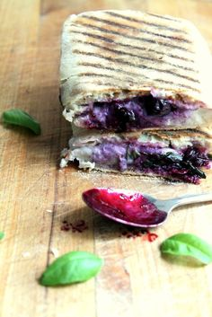 This grilled panini was surprisingly delicious. Mozzarella + balsamic blueberry sauce = amazing combo!
