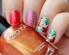 Maple Leaves nail art by Moriesnailart