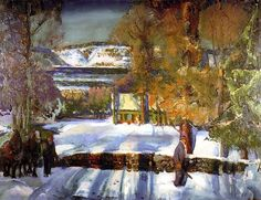 bofransson:    George Wesley Bellows - Winter Road