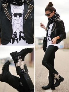 Love this rocker chic look