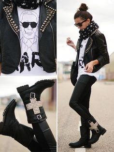 Love this rocker chic look