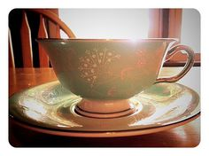 Castleton China Corsage Pattern Tea Cup and by AmbersAntiquesCo, $17.00