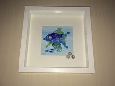 """Blue Fish - 10"""" x 10"""""""