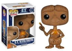 Steven Spielberg's 1982 classic movie gets the Pop! Vinyl makeover with this E.T. Pop! Vinyl Figure. The cute and adorable E.T. has a stylized look as he stands about 3 3/4-inches tall in a window display box. E.T. is shown with his glowing right finger tip along with his glowing chest, just like you remember him! Re-enact the memorable scene with Elliott (sold separately) today by picking up this E.T. Pop! Vinyl figure! #funko #collectible #popvinyl #actionfigure #toy #ET…