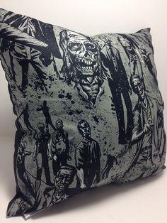 #Zombies Zombies Zombies... how we adore you!  Okay well some of us do! From the old Classic Romaro films, to #iZombie, The Walking Dead, what is not to love. Classic Movie V... #etsy #handmade #dogs #mothersday #fathersday #gifts #doglovers #noveltypillows #mancave #creepy #gothic #izombie #zombies