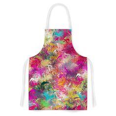 "Danny Ivan ""Splash"" Rainbow Abstract Artistic Apron"