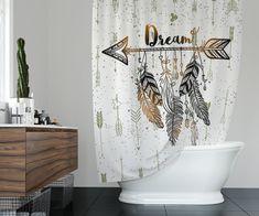 Boho Dream Arrows Shower Curtain W Bathmat Set Options