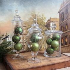 Love the jars (though I personally think the ornaments inside them are slightly too large for these jars.