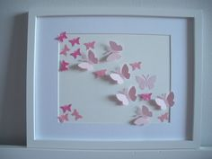 Children's wall art with a simple punch. #butterfly #nursery #diy