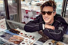 Starring in Dolce & Gabbana's spring-summer 2017 eyewear campaign, Cameron Dallas sports an updated version of the brand's leopard framed sunglasses. Cameron Dallas, Cam Dallas, Cameron Alexander Dallas, Baby Boys, Dolce And Gabbana 2017, Dallas Sports, Presley Gerber, Vine Boys, Wattpad
