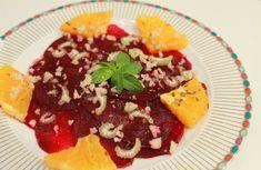 Mis Recetas Anticáncer: Carpaccio vegano de remolacha, naranja y nueces de Macadamia por Tamara de Clemente