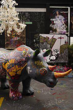 Le rhinocéros du New Hotel of Marseille revisité façon Street Art