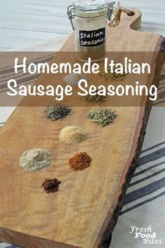Homemade Italian Sausage Seasoning Recipe ~ Fresh Food Bites - Making your own seasoning mixes could not be easier, and with this Homemade Italian Sausage Seasoni - Sweet Italian Sausage Seasoning Recipe, Italian Sausage Spices, Homemade Italian Sausage, Pork Sausage Recipes, Homemade Sausage Recipes, Italian Sausage Recipes, Homemade Spices, Homemade Seasonings, Italian Meatballs