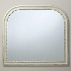 Buy John Lewis Distressed Overmantel Mirror, Cream, 95 x 104cm Online at johnlewis.com