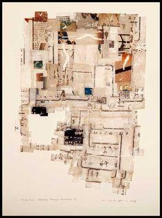 Yuko Kimura - Estampas y Collages Love Collage, Collage Art Mixed Media, But Is It Art, Visual Journals, Paper Glue, Art For Art Sake, 2d Art, Mix Media, Texture Art