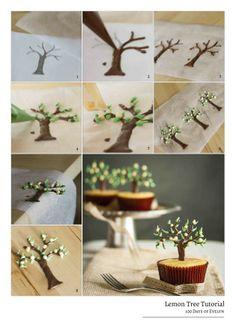 http://100daysofevelyn.com/2013/09/22/lemon-tree-cupcakes/ Lemon Tree Tutorial