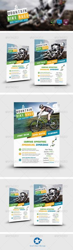 Bicycle Racing Flyer PSD Template| Buy and Download: http://graphicriver.net/item/bicycle-racing-flyer-templates/8234511?WT.ac=category_thumb&WT.z_author=grafilker&ref=ksioks: