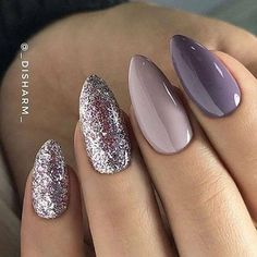 Mix and match nail in mauve color