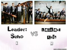 You can see how they lead their teams from this photo lol at Kris