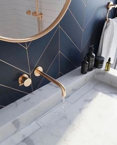 Bathroom decor for your bathroom remodel. Discover master bathroom organization, bathroom decor a few ideas, master bathroom tile ideas, master bathroom paint colors, and more. Bathroom Inspo, Bathroom Inspiration, Bathroom Ideas, Bathroom Designs, Bath Ideas, Wallpaper Your Bathroom, Bathroom Wallpaper, Wallpaper Art, Bad Inspiration