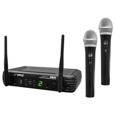 Pyle - Professional Premier Series 2-Channel UHF Wireless Microphone System, PDWM3375
