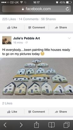 Pebble houses Pebble Art, House Painting, To Go, Houses, Beach, Pictures, Homes, Photos, The Beach