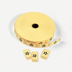 Yellow Star Single Roll Tickets - OrientalTrading.com......comes in different colors...thinking we could use them for different age groups