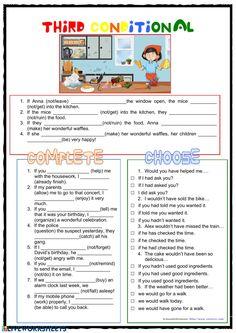 Actividad de Third Conditional Grammar Lessons, Grammar Worksheets, Esl, Conditional Sentence, School Subjects, English Lessons, Sentences, Language, Teaching