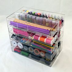 Our Totally-Tiffany Acyrlic Cases are the perfect way to organize all your goodies! On Sale now at www.Totally-Tiffany.com