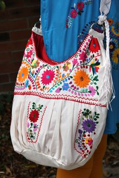 Beige Muslin with Multi colored hand Embroidered by CasaOtomi,Check out our new website at www.CasaOtomi.com Mexico, Tenango, mexican wedding, textile, mexican suzani, suzani, embroidery, hand embroidered, otomi, otomi, table runner, fiber art, mexican, handmade, original, authetic, textile , mexico casa, mexican decor, mexican interior, frida, kahlo, mexican folk, folk art, mexican house, mexican home, puebla collection, las flores, travel tote, boho, tote, handbag, purse, cushion, pillow