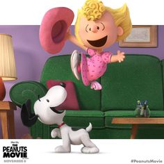 Sally and Snoopy jumpin' right out at ya. See The Peanuts Movie in 3D this Friday!