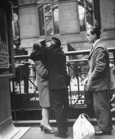 Farewell to departing troops at New York's Penn Station, April 1943. Read more: http://life.time.com/history/true-romance-the-heartache-of-wartime-farewells-penn-station-1943/#ixzz2M2uCfgqO