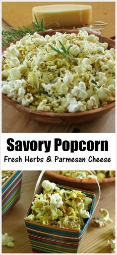 Popcorn coated with a cheesy olive oil mixture and fresh herbs instead of butter. I'll never eat it any other way!
