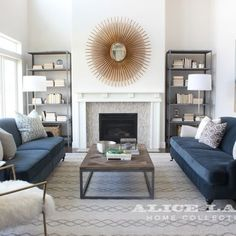 living room style update navy blue sofa living room pinterest rh pinterest com navy blue sectional living room navy couch living room ideas