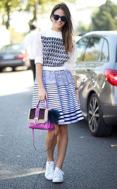 Giovanna Battaglia from Street Style: Paris Fashion Week Spring 2015  