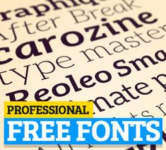 Best Free Fonts for Posters, Flyers and Logo Designs