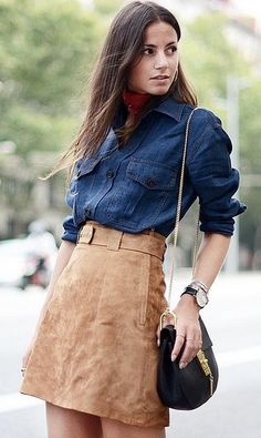 With a Chambray Shirt on Top