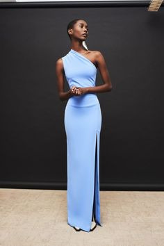 Solace London Makes Fashion Dreams Come True With This Resort Collection l Womenswear l Women fashion runway look outfit blue gowns Evening Dresses, Prom Dresses, Formal Dresses, Sexy Dresses, Ladies Dresses, Summer Dresses, Long Dresses, Elegant Dresses, Beautiful Dresses