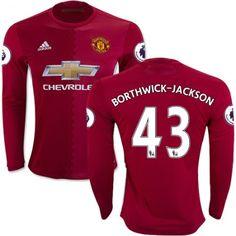 Manchester United 16-17 Cameron #Borthwick-Jackson 43 Hjemmebanetrøje Lange ærmer,245,14KR,shirtshopservice@gmail.com