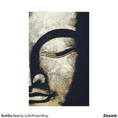 Buddha face galerie falt leinwand