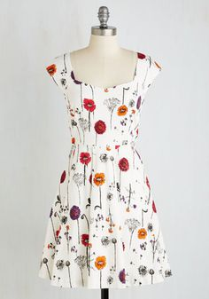 Showered with Flowers Dress From the Plus Size Fashion Community at www.VintageandCurvy.com