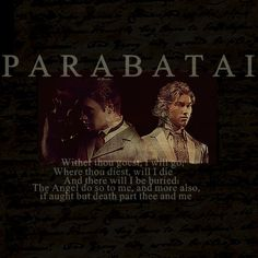 The Infernal Devices: Parabatai #Jem and #Will