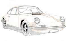 #Porsche #911 #classic #tegnepeter #illustration