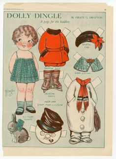 75.2992: Dolly Dingle | paper doll | Paper Dolls | Dolls | National Museum of Play Online Collections | The Strong