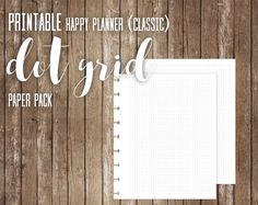 PRINTABLE Happy Planner Classic Dot Grid by littlecranepaperco